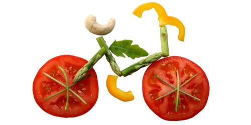 Image of Bike made of vegetables